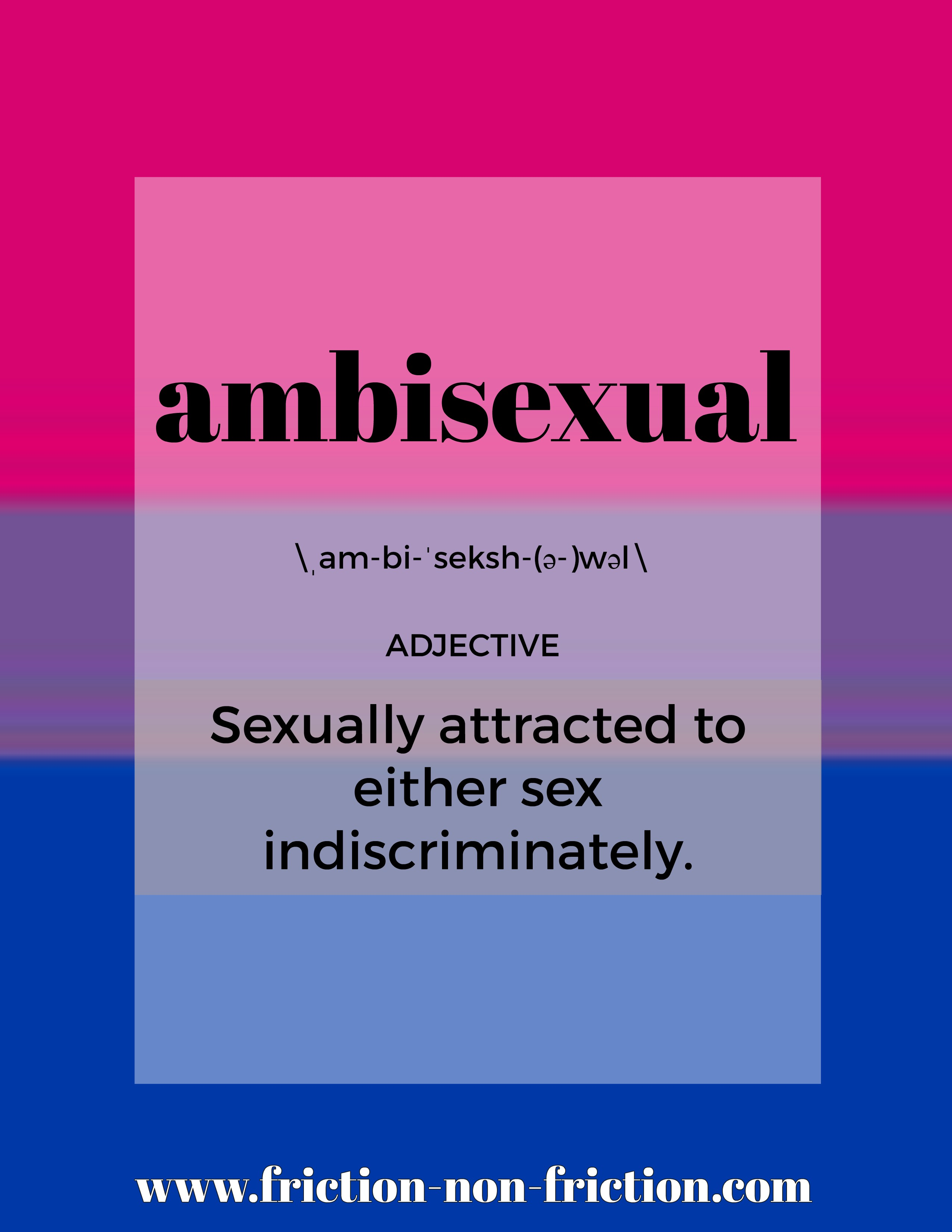 Ambisexual -- another great FRICTIONARY definition from Friction|non|Friction