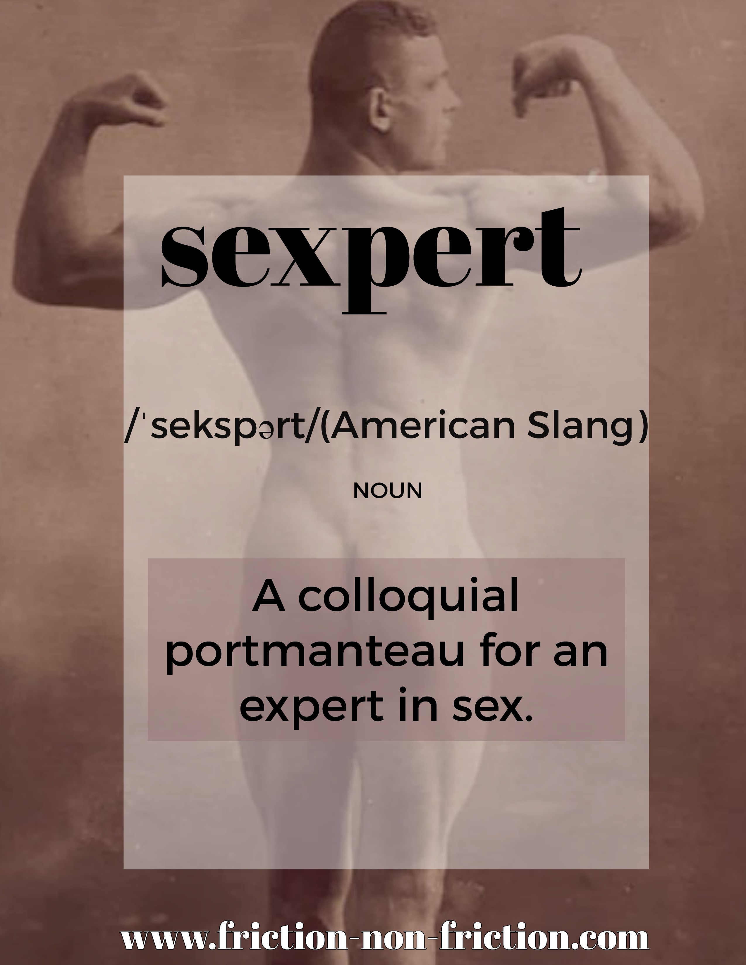 Sexpert -- another great FRICTIONARY definition from Friction|non|Friction