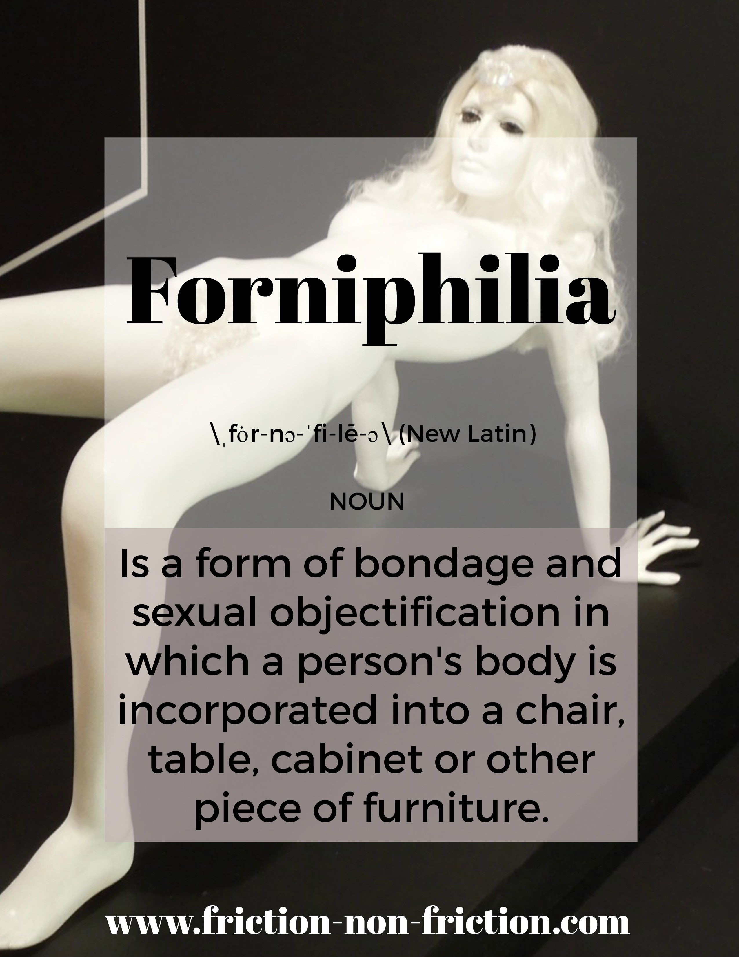 Forniphilia -- another great FRICTIONARY definition from Friction non Friction