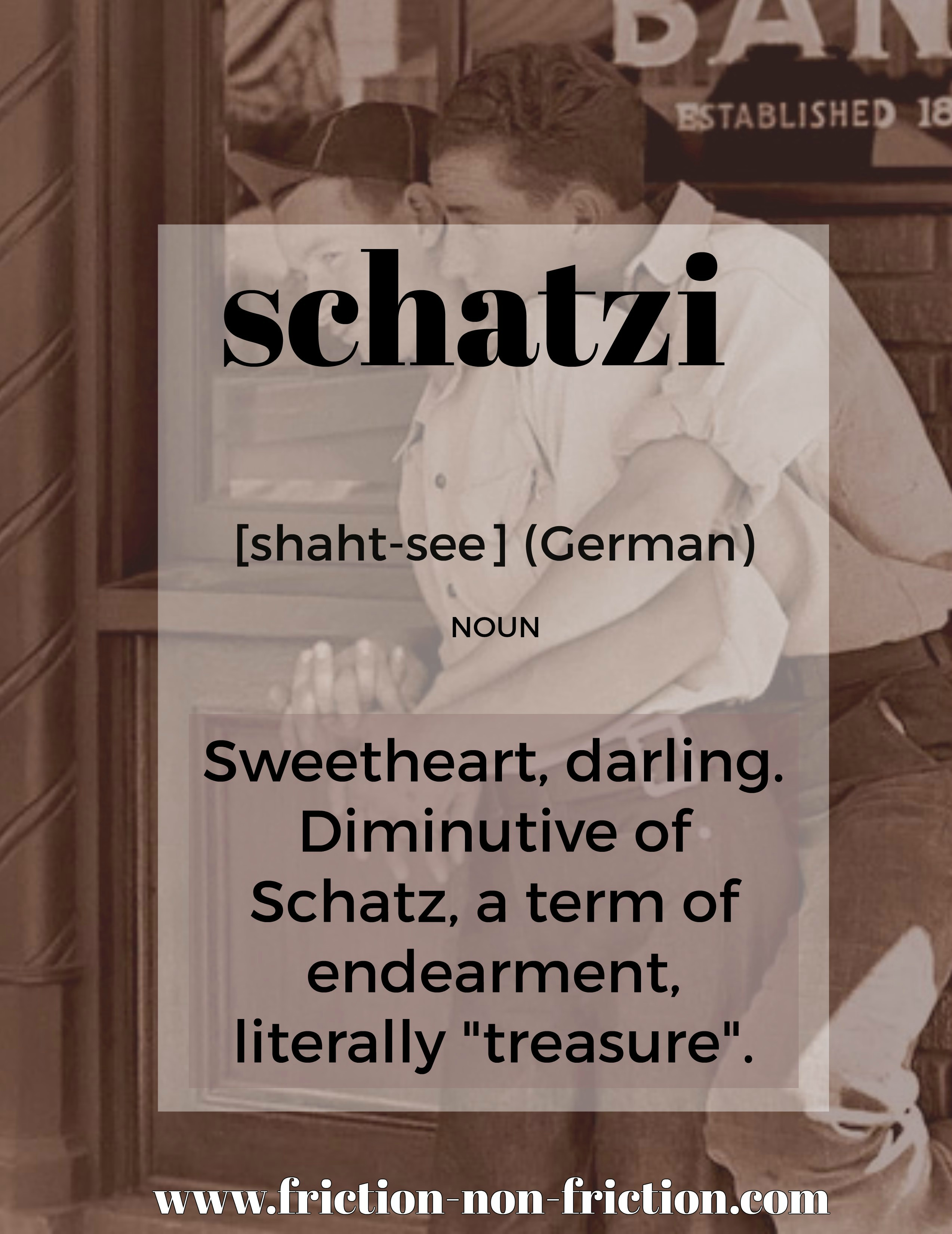 Schatzi -- another great FRICTIONARY definition from Friction non Friction